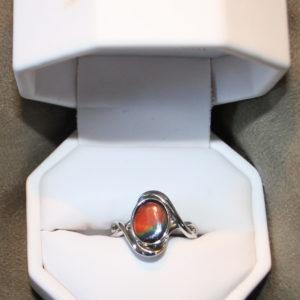 Ammolite Oval ring Sz8