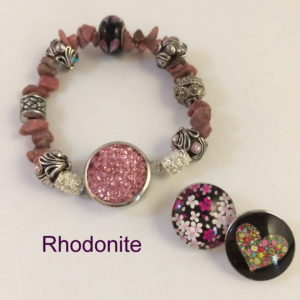 Rhodonite Snap Charm